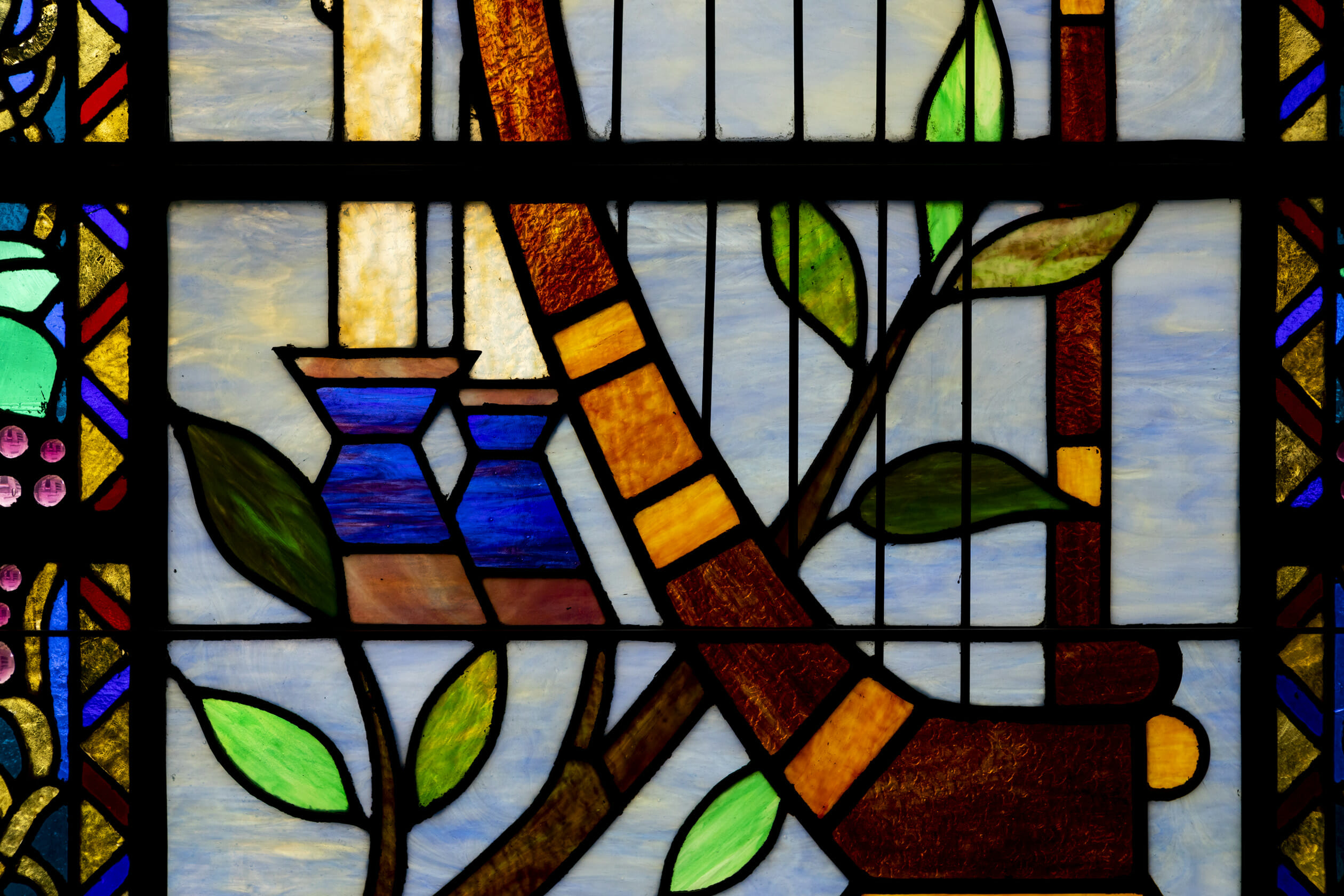 beautiful stained glass at b'nai jeshurun