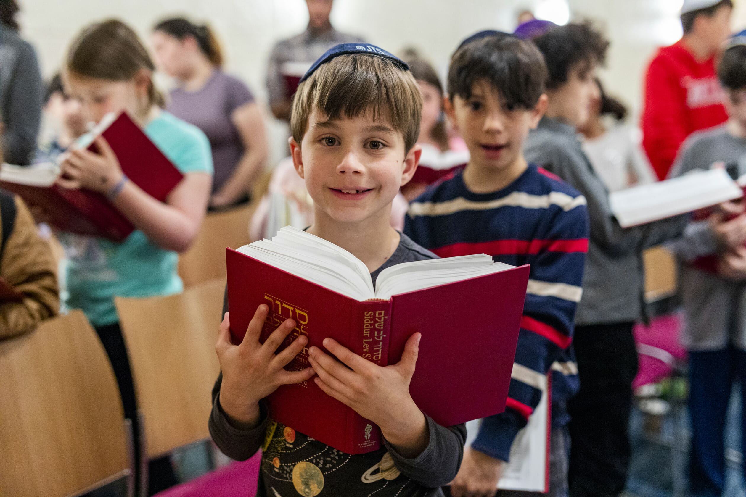 boys reading siddur