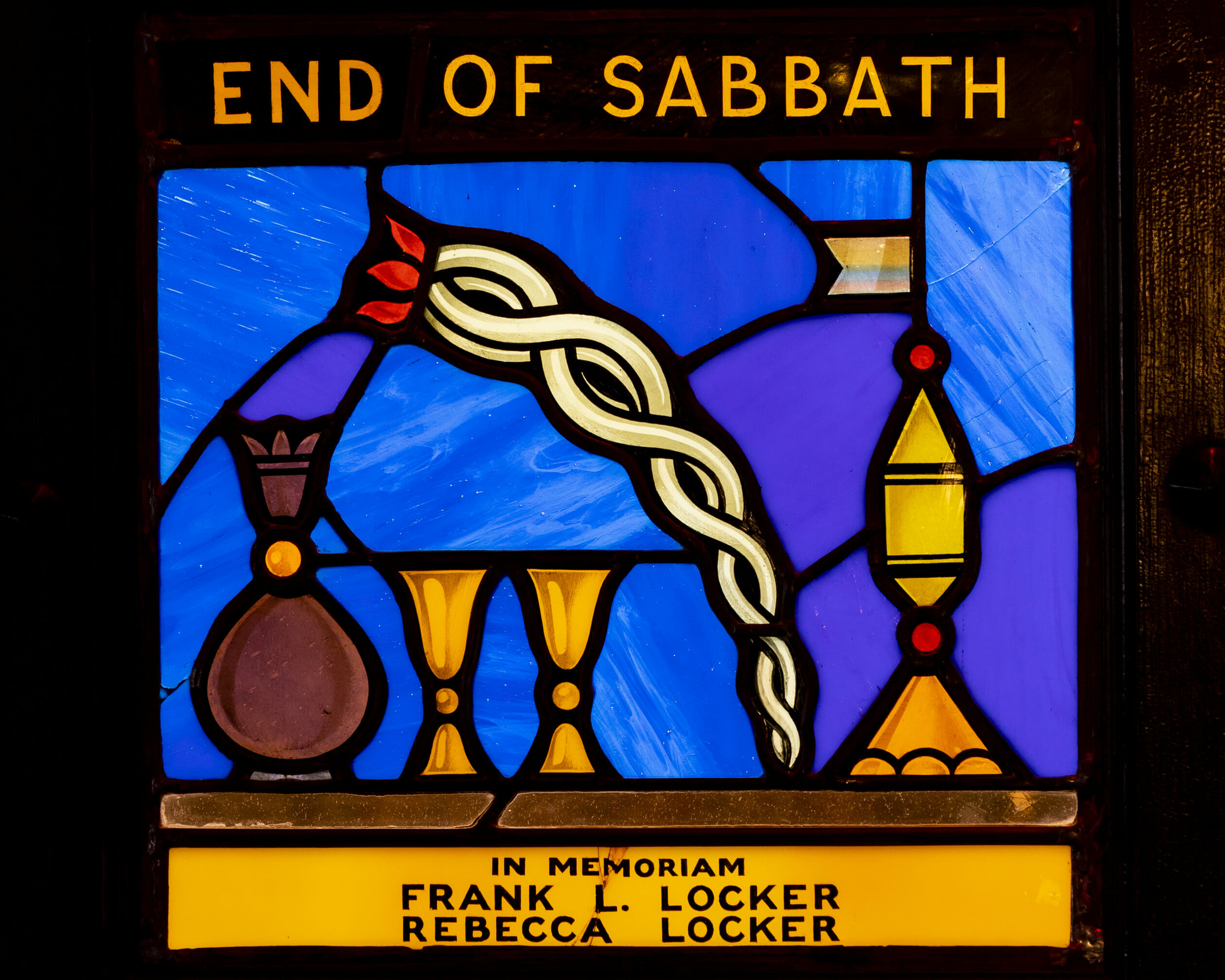 end of sabbath - in memoriam frank & rebecca locker