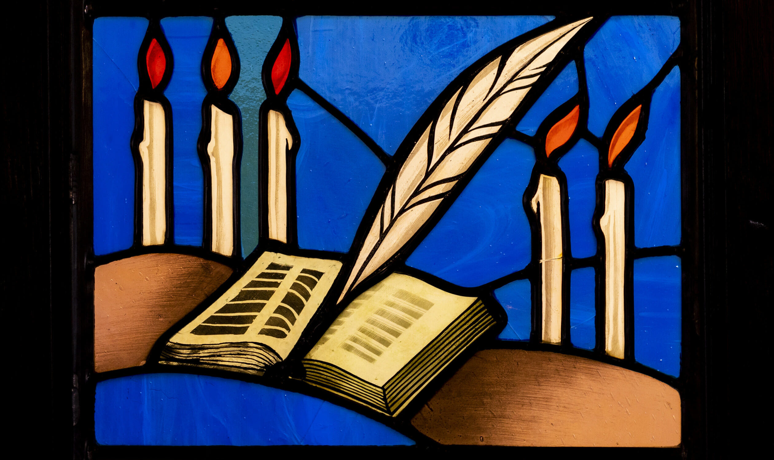 Yom Kippur stained glass window