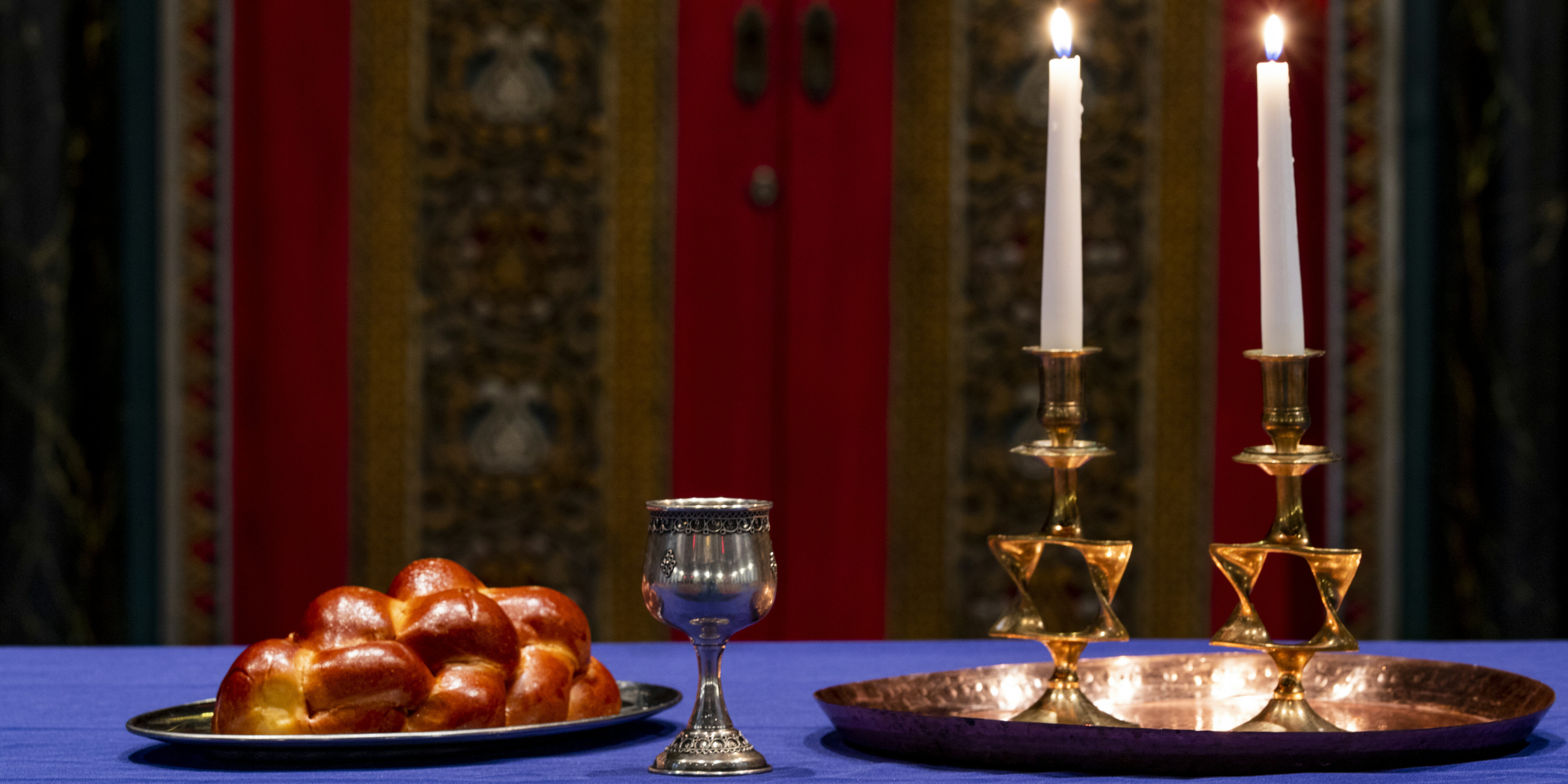 candles and challah