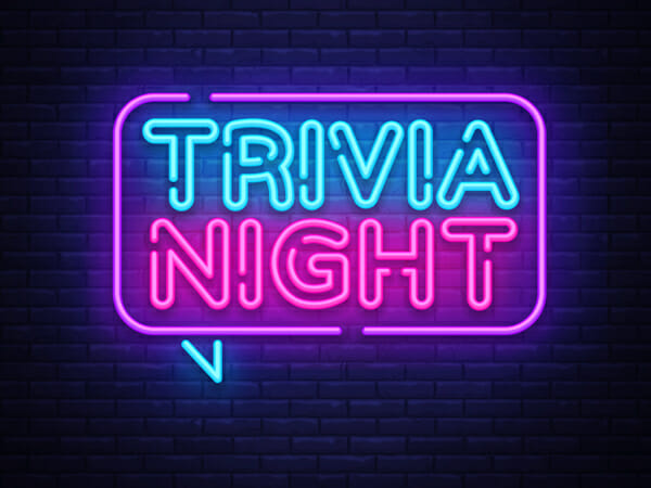 trivia night neon sign
