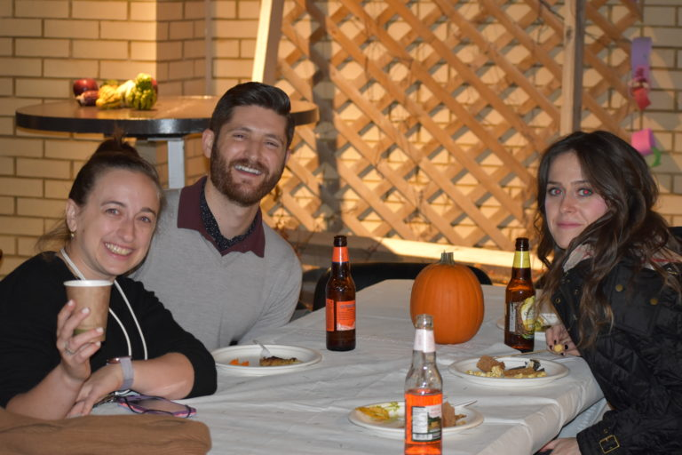group of friends at Shabbat gathering