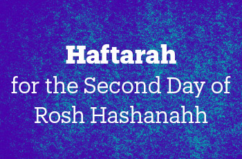haftarah for the second day of rosh hashanah
