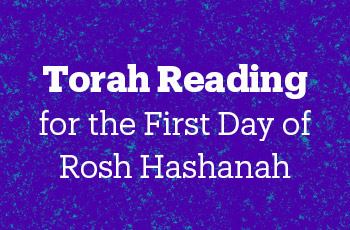 torah reading for the first day of rosh hashanah